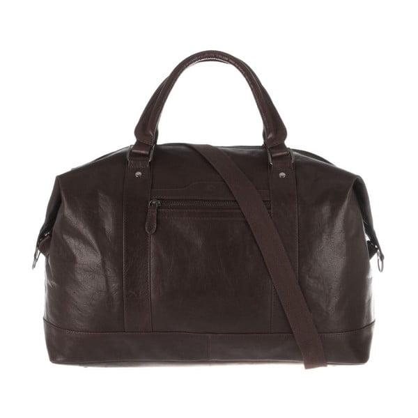 Kožená taška Monty Dark Brown