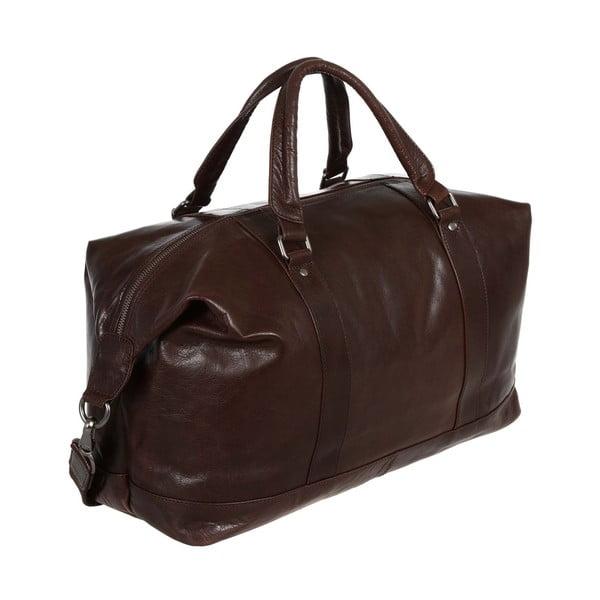 Cestovní kožená taška Monty Dark Brown