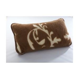 Vlnený hnedý vankúš z ťavej vlny Royal Dream Cappucino and Chocolate, 40x70 cm