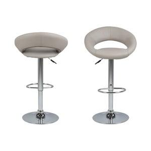 Sivá barová stolička s nastavitelnou výškou Actona Plump