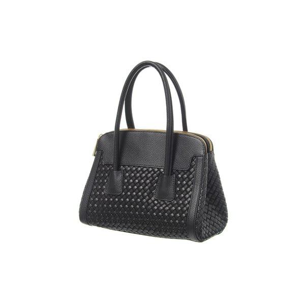 Kožená kabelka Twist Black