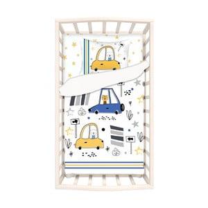 Detské bavlnené obliečky s plachtou na jednolôžko Apolena Mirra Fesso, 100 x 150 cm