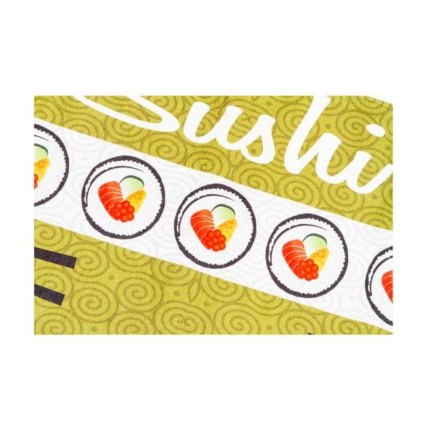 Vysokoodolný kuchynský koberec Sushi, 60x220 cm