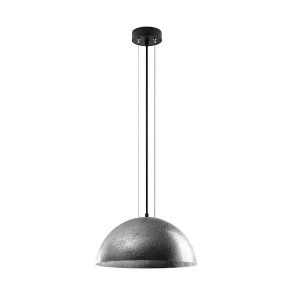 Závesná lampa v striebornej farbe Bulb Attack Cuatro, priemer 40 cm
