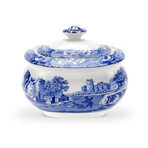Bielo-modrá porcelánová cukornička s viečkom Spode Blue Italian, 2,5 l