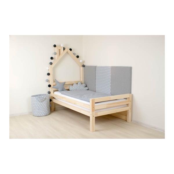 Detská posteľ z prírodného borovicového dreva Benlemi Wally, 90×160cm