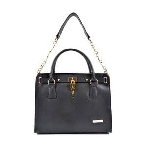 Čierna kožená kabelka Roberta M Bea