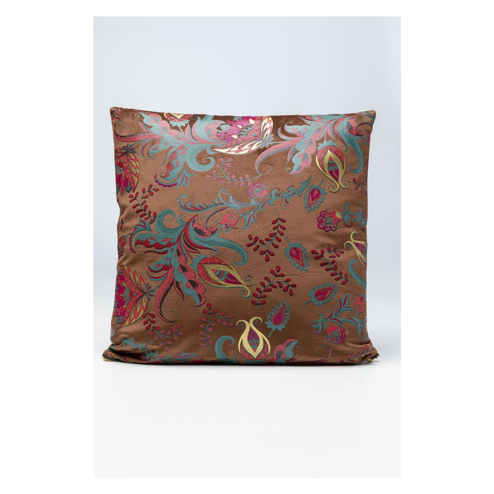 Vankúš Kare Design Floral Braun, 45 x 45 cm