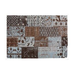 Hnedý koberec s prímesou bavlny Cotex Restar, 140 × 200 cm