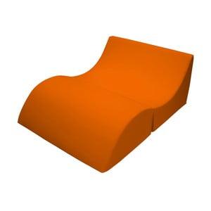 Oranžové variabilné ležadlo/stolík 13Casa Cleo