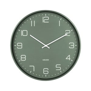 zlené nástenné hodiny Karlsson Lofty, ø 40 cm