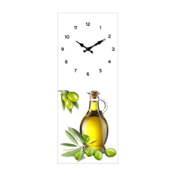 Sklenené hodiny Olivy, 20x50 cm