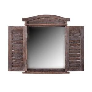 Hnedé zrkadlo Mendler Shabby