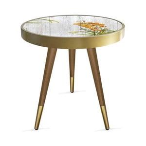 Príručný stolík Rassino Orange Orchid Circle, ⌀ 45 cm