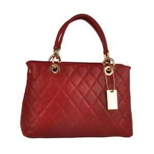 Kožená kabelka Emilio Masi Belore, červená