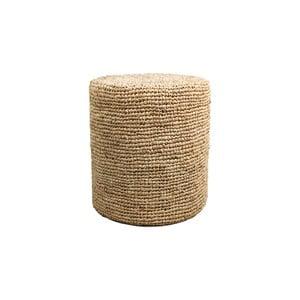 Puf z palmového dreva HSM collection Raffia, 36×45 cm