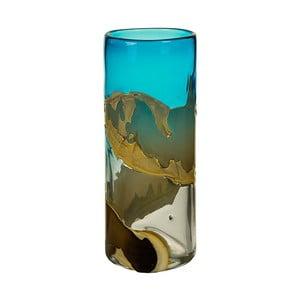 Ručne vyrábaná krištáľová váza Santiago Pons Ocean, výška 35 cm