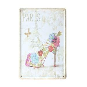 Ceduľa Paris Shoe, 20x30 cm