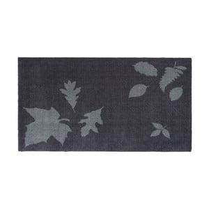 Modro-sivá rohožka Tica Copenhagen Mega Leafes, 67 x 120 cm
