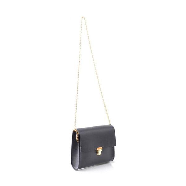 Kožená kabelka Jennifer, čierna