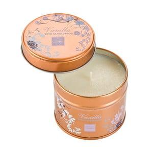 Aromatická sviečka v plechovke s vôňou vanilky a santalového dreva Copenhagen Candles, doba horenia 32 hodín