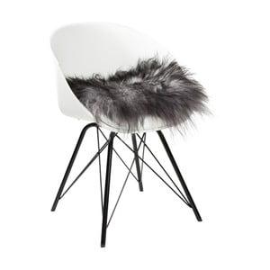 Sivý sedák na stoličku Woooly Icelandic Melange Grey