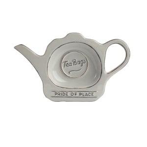 Sivý keramický tanierik na čajové vrecúška PrideofPlace