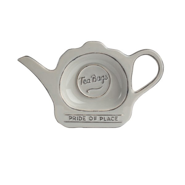 Sivý keramický tanierik na čajové vrecúška T&G Woodware PrideofPlace