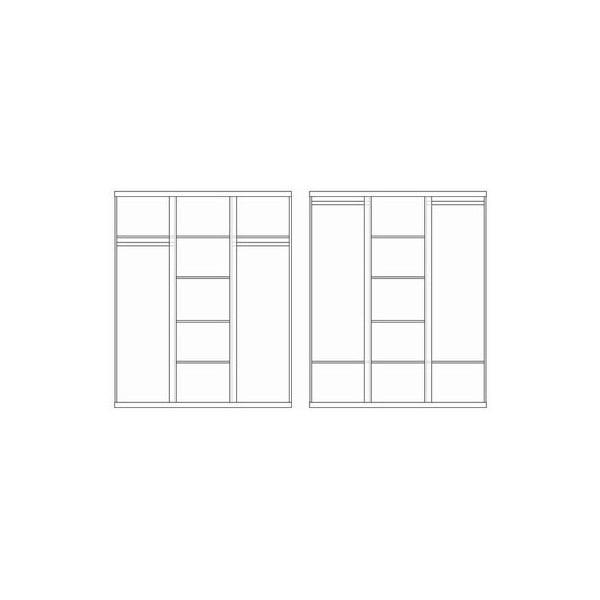 Šatníková skriňa Lara, 204 x 166 cm