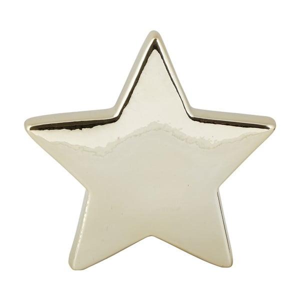 Dekoratívna keramická soška v zlatej farbe KJ Collection Ceramic Star, 14 cm