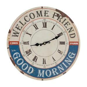 Nástenné hodiny Welcome, 34 cm