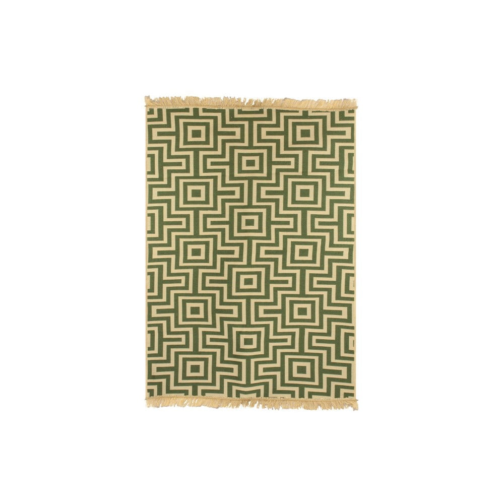 Zeleno-béžový koberec Ya Rugs Kare, 120 x 180 cm