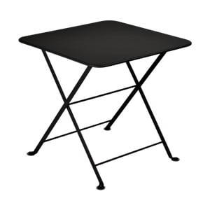 Černý detský skladací kovový stôl Fermob Tom Pouce