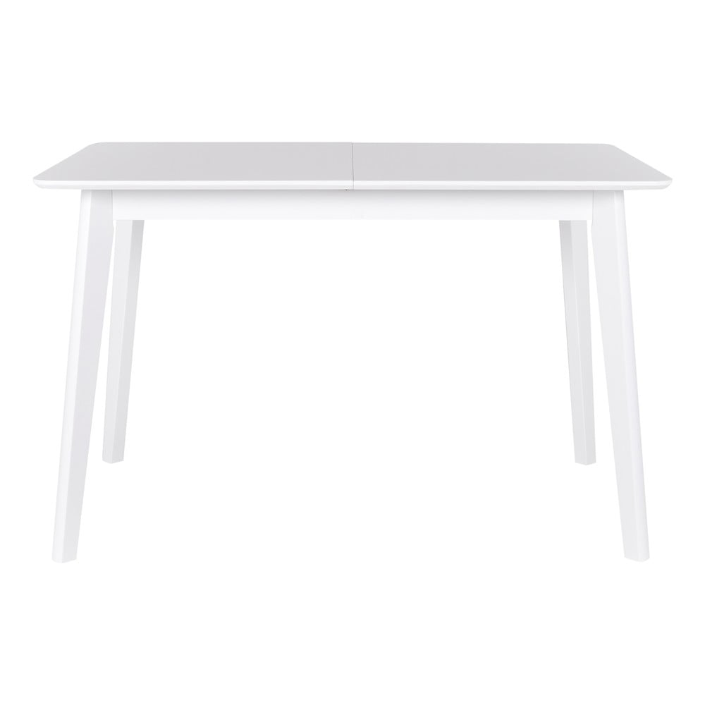 Biely rozkladací jedálenský stôl Canett Tilde, 75 × 75 cm