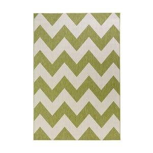 Zeleno-biely koberec vhodný aj do exteriéru Unique, 200×290 cm