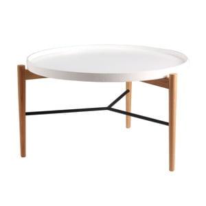 Biely konferenčný stolík sprírodnou konštrukciou sømcasa Eric