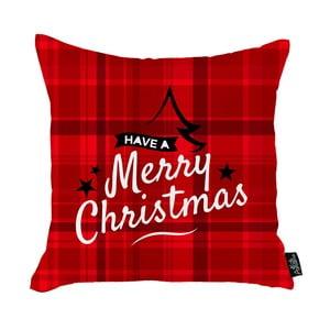 Červená vianočná obliečka na vankúš Apolena Honey Have a Merry Christmas, 45 x 45 cm