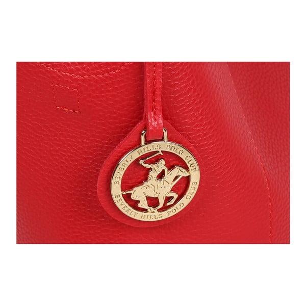 Červená kabelka z eko kože Beverly Hills Polo Club Rita