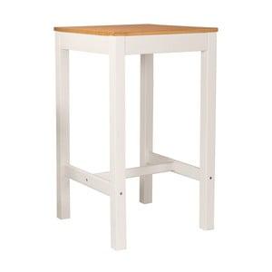 Biely barový stolík z borovicového dreva SOB Irelia