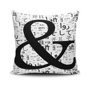 Obliečka na vankúš s prímesou bavlny Cushion Love Letter, 45 × 45 cm