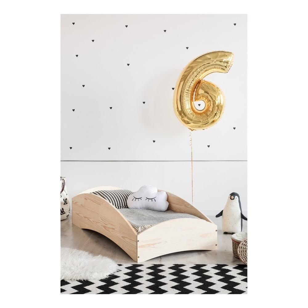 Detská posteľ z borovicového dreva Adeko BOX 6, 90 × 180 cm