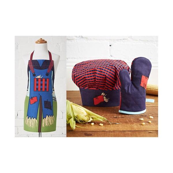 Detská sada zástery, čapice a kuchynskej rukavice Scarecrow
