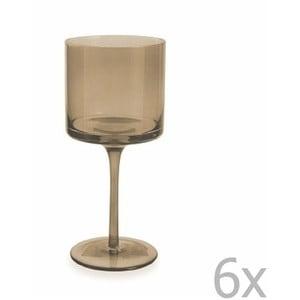 Sada 6 hnedých pohárov na víno Villa d'Este Cala, 450 ml
