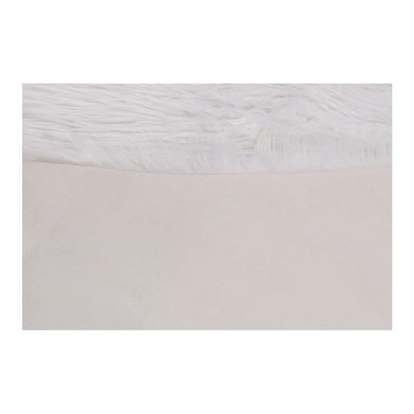 Biely koberec z umelej kožušiny Mirabelle, 150 x 95 cm