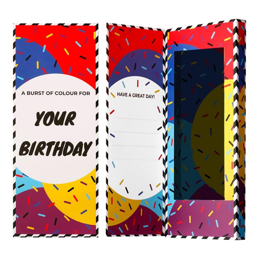 Darčeková krabička na ponožky Ballonet Socks Happy Birthday Socks Card