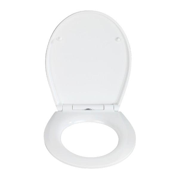 WC sedadlo s jednoduchým zatváraním Wenko Easy Alba, 44,5 × 37 cm