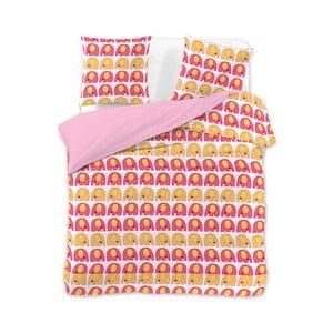 Obliečky na dvojlôžko z mikrovlákna DecoKing CuteElephants, 200 x 200 cm