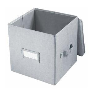 Sivý úložný bo× iDesign Codi, 32 × 27,9 cm