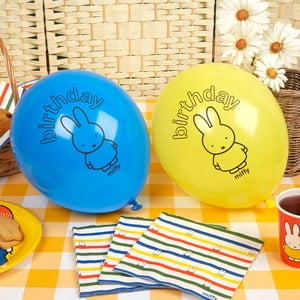 Sada 8 nafukovacích balónikov Neviti Miffy Birthday
