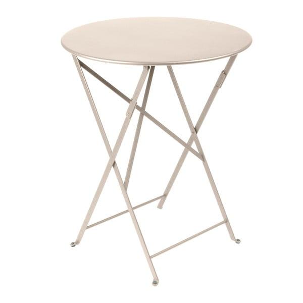 Krémový skladací kovový stôl Fermob Bistro